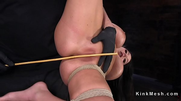 Caning, Monster tits, Caned