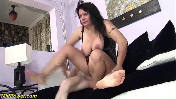 Busty mom, Double penetration
