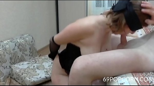 Wife anal, Blindfolded